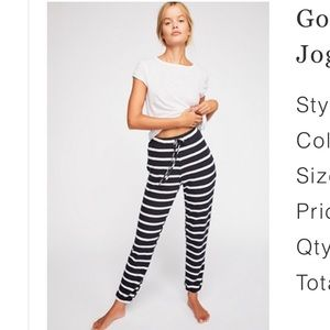 Free people striped joggers